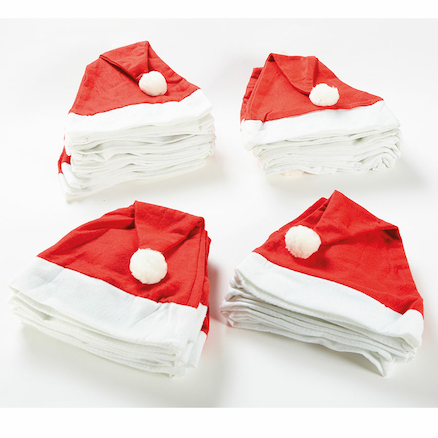 Felt Father Christmas Dress Up Hats 36pk  large