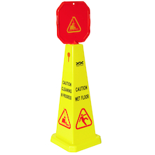 Caution Wet Floor Cone Yellow  medium