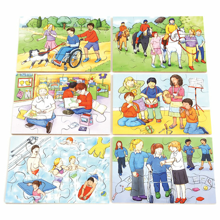 Illustrated Inclusion Jigsaw Puzzle 6pk  large