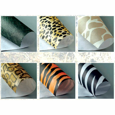 Safari Print Paper Rolls Assorted 60cm x 2.4m 6pk  large