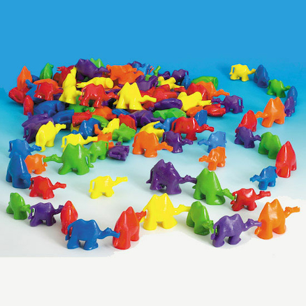 3D Coloured Connecting Camel Figures 96pk  large