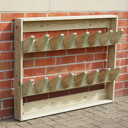 Outdoor Wooden Wellie Wall  large