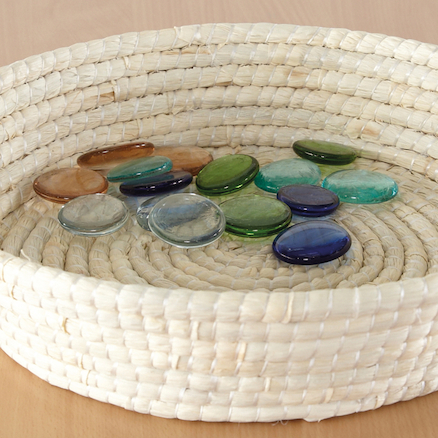 Smooth Soft Woven Treasure Basket Dish 39cm  large
