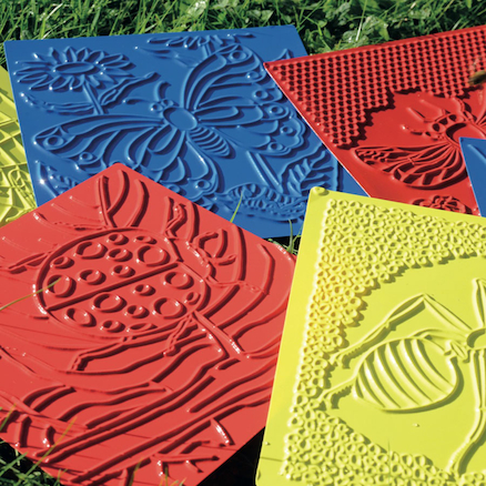 Plastic Bug Rubbing Plates Assorted 6pk  large