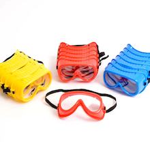 Coloured Safety Goggles  medium