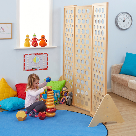 Natural Wooden Folding Room Dividers  large