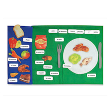 Food Spanish Vocabulary Fabric Bag  medium