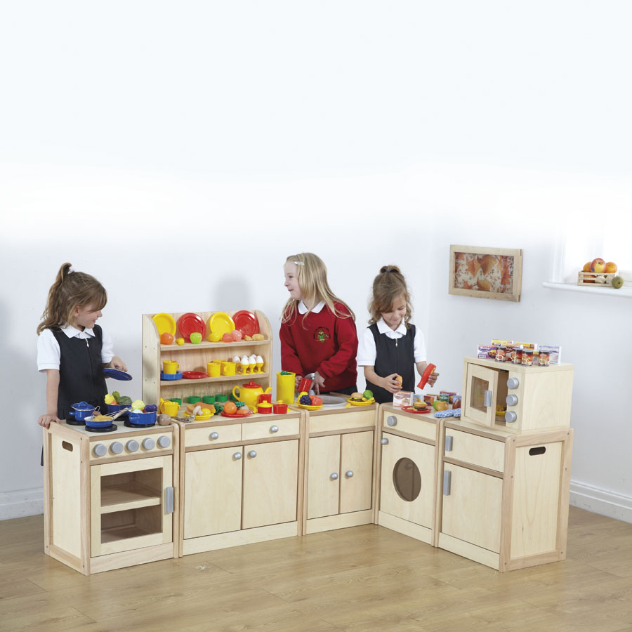 Buy role play kitchen units and accessories offer tts for Small childrens kitchen
