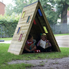 Outdoor Triangular Rainbow Den  small