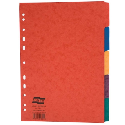 Europa A4 Subject Folder Dividers  large