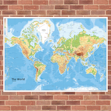 Outdoor World Map Playground Signs  medium