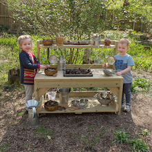 Outdoor Messy Play Wooden Mud Kitchen  medium