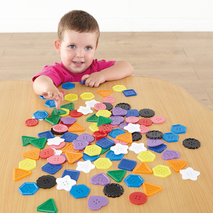 Giant Button Counters Assorted Colours 90pcs  large