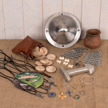 Anglo Saxon Archaeology Artefacts Collection  large