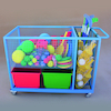 Heavy Duty Sports Storage Trolley  small