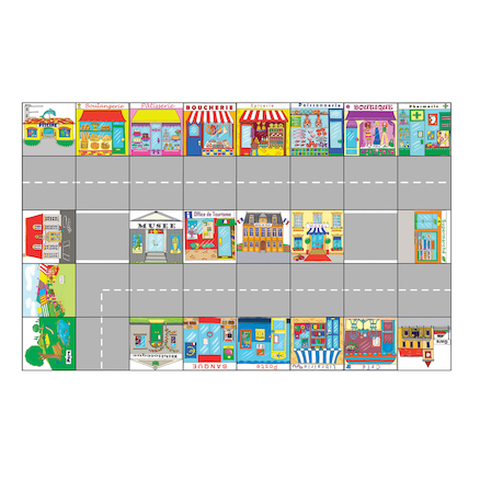 Bee Bot French Town Mat  large