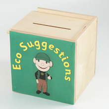 Eco-School Suggestions Coloured Box  medium