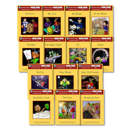 Dandelion Extended Phonic Readers Decodable Book Packs 14pk  large