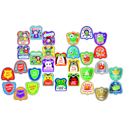 Assorted Shaped Reward Stickers 750pk  large