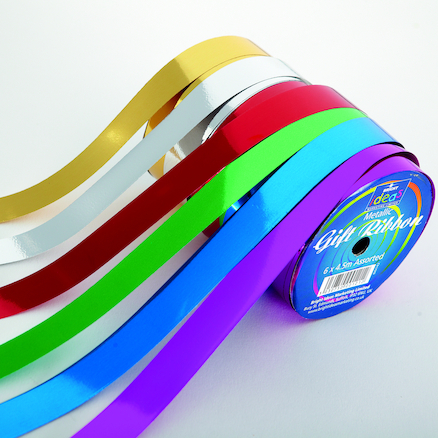 Metallic Ribbons Spool L4.5m 6pk  large