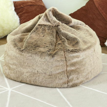 Faux Fur Beanbag  large
