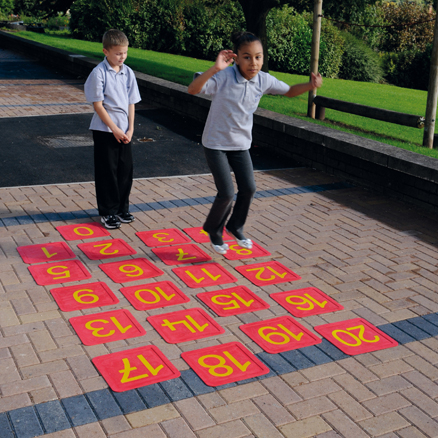 Giant Non Slip Floor Number Tiles 0\-20  large