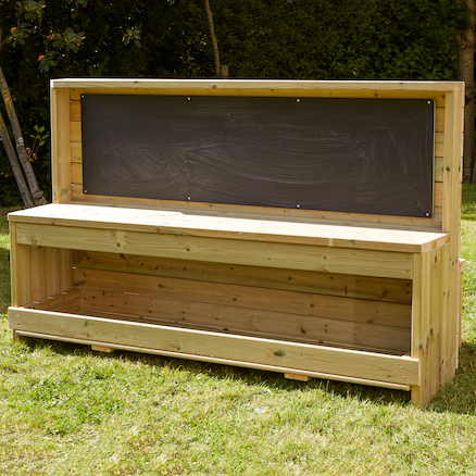 Wooden Chalkboard Workbench Unit  large