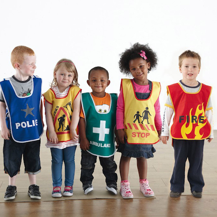 Traffic and Emergency Dress Up Tabards 5pk  large