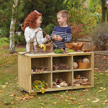 Outdoor Wooden Cube Shelf Storage   medium