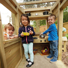 Outdoor Wooden Role Play Caravan  small
