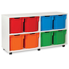 White Tray Storage Unit With 8 Jumbo Trays  small