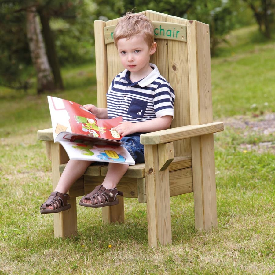 Buy outdoor wooden childrens reading chair tts for Toddler reading chair