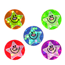 Sparkling Mini Smiley Star Stickers  medium