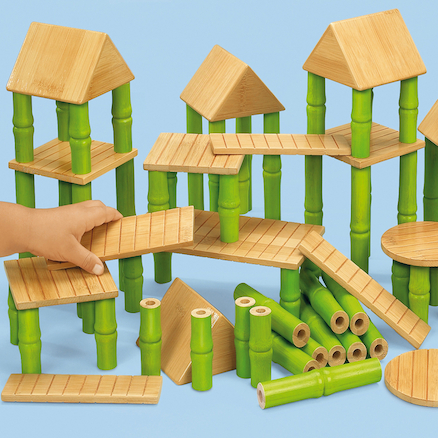 Bamboo Building Blocks  large