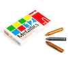 Assorted Metallic Wax Crayons 12pk  small