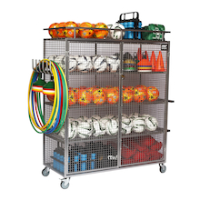 Deluxe Lockable Mobile Ball Storage Cabinet  medium