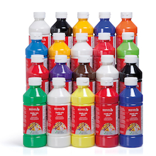 Ready Mixed Paint Assorted 500ml 20pk  medium