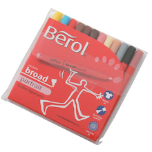Berol Fibre Tipped Broad Portrait Pens 12pk  medium