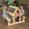 Easy Access Outdoor Wooden Sit Down Easel  small