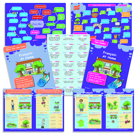 KS3 French At Home Revision Activity Cards 10pk  large