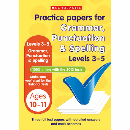 Practice Papers Punctuation Grammar \x26 Spelling  large