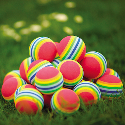 Rainbow Foam Balls 4.8cm 24pk  large