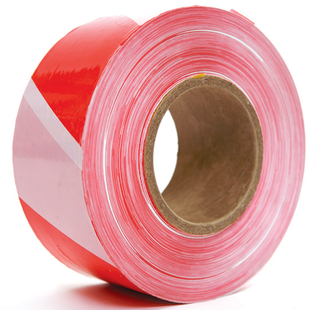 Red and White Barrier Tape 500m  large