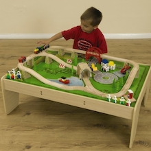 Small World Wooden Train Set and Table  medium