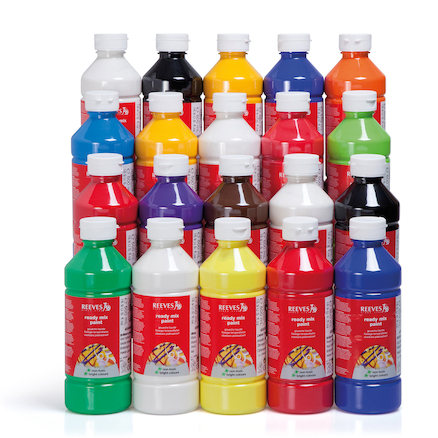 Ready Mixed Paint Assorted 500ml 20pk  large