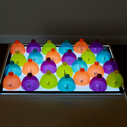 Lightbox Translucent Alphabet Sorting Domes  large