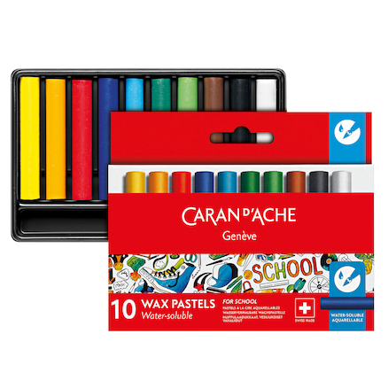Caran D'ache Assorted Half Wax Pastels  large