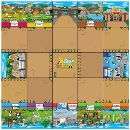 Bee\-Bot Zoo Mat  large