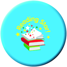 Reading Star Button Badges 40pk  medium