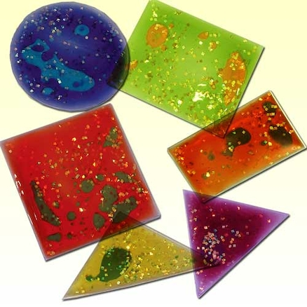 Multicoloured Squidgy Sparkles Shapes 12pk  large